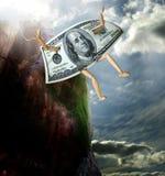 Pieniądze doskakiwanie od falezy royalty ilustracja