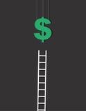 Pieniądze drabina ilustracja wektor