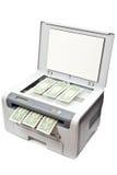 pieniądze drukarka fotografia stock