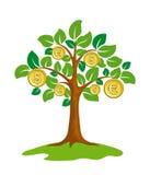 pieniądze drzewo ilustracja wektor