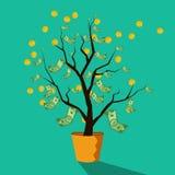 Pieniądze drzewo pomyślny biznes Zdjęcie Royalty Free