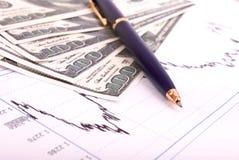 pieniądze finansowy rozkład Zdjęcie Stock