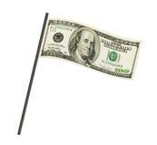 Pieniądze flaga Fotografia Royalty Free