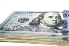 Pieniądze gotówka odizolowywająca Zdjęcie Royalty Free