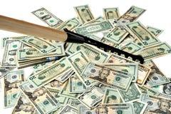 pieniądze grabienie fotografia stock