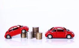 Pieniądze i czerwień samochód Obraz Stock