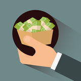 Pieniądze i inwestycja Obraz Royalty Free