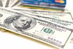 Pieniądze i karty obrazy royalty free