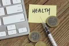 Pieniądze i zdrowie zdjęcia stock