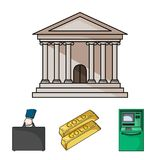 Pieniądze ikony powiązany set Fotografia Stock