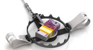 Pieniądze jako niebezpieczny nęcenie royalty ilustracja