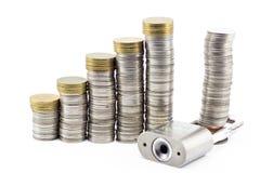 Pieniądze kędziorek fotografia stock