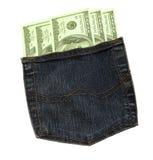pieniądze kieszeń Obrazy Stock