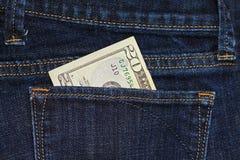 pieniądze kieszeń Zdjęcia Stock