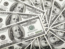 pieniądze koło Zdjęcia Royalty Free
