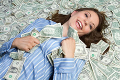 pieniądze kobieta zdjęcia stock