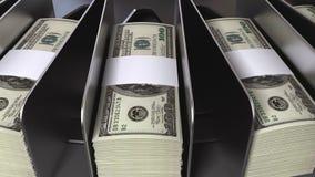 Pieniądze konwejer ilustracji