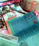 Pieniądze Korea Singapore Malaysia obraz royalty free