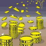Pieniądze który lata daleko zdala od właściciela ilustracji