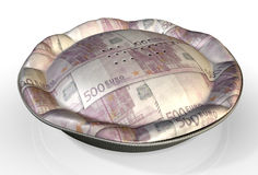 Pieniądze kulebiaka euro Zdjęcie Stock