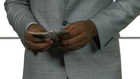 Pieniądze liczenie na białym tle zbiory
