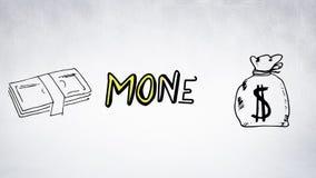Pieniądze literowanie i ilustracja royalty ilustracja