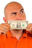 Pieniądze mężczyzna zdjęcie royalty free