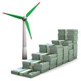 Pieniądze mapy silnik wiatrowy ilustracji