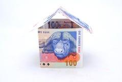 pieniądze na afryce domu Obraz Stock