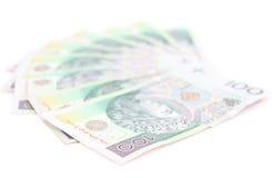 Pieniądze na białym tle Obrazy Stock