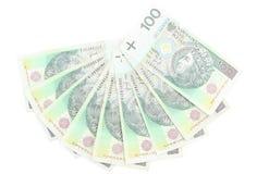Pieniądze na białym tle Zdjęcia Royalty Free