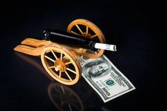 Pieniądze na rękach Fotografia Royalty Free