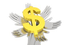 Pieniądze na solidne podstawy ilustracji