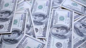 Pieniądze na stole zbiory wideo