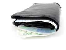 pieniądze norwegu portfel fotografia stock
