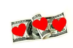 Pieniądze odizolowywający na białym tle Zdjęcie Royalty Free