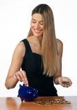 pieniądze odliczająca kobieta zdjęcie royalty free
