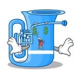 Pieniądze oka miniatury tuba w kształt kreskówce ilustracji