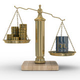 pieniądze oleju skala ilustracji