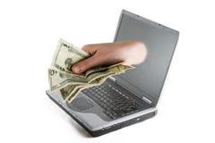 pieniądze online Zdjęcia Royalty Free