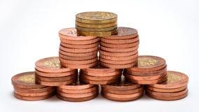 pieniądze ostrosłup Zdjęcie Stock