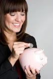 pieniądze oszczędzania kobieta zdjęcie royalty free