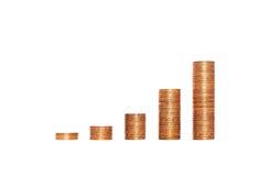 Pieniądze oszczędzania wykres Obraz Royalty Free