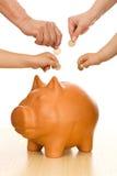 pieniądze oszczędzanie obrazy stock