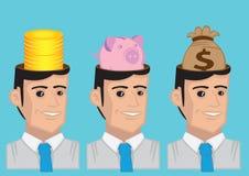 Pieniądze Pamiętająca Wektorowa charakter ilustracja ilustracji