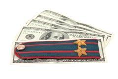 pieniądze patka milicyjna rosyjska naramienna obraz stock