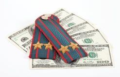 pieniądze patka milicyjna rosyjska naramienna zdjęcia stock