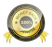 Pieniądze plecy gwaranci odznaka Zdjęcia Royalty Free