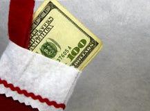 Pieniądze pończocha Obraz Royalty Free