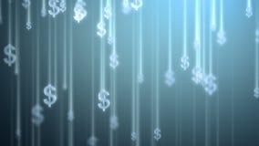 Pieniądze podeszczowy tło, dolary ilustracji